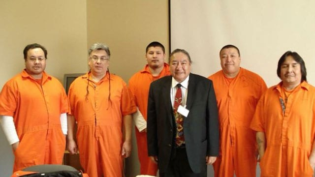 Members of the KI 6 including Chief Donny Morris is in the suit.