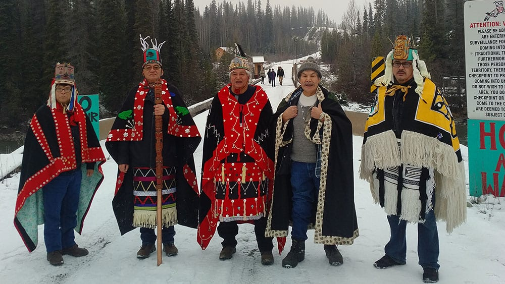 Hereditary chiefs of Wet'suwet'en Nation in northern B.C.