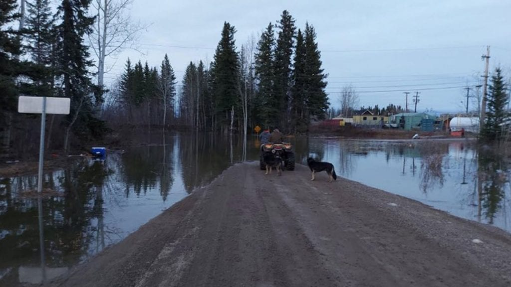 Jean Marie River flooding