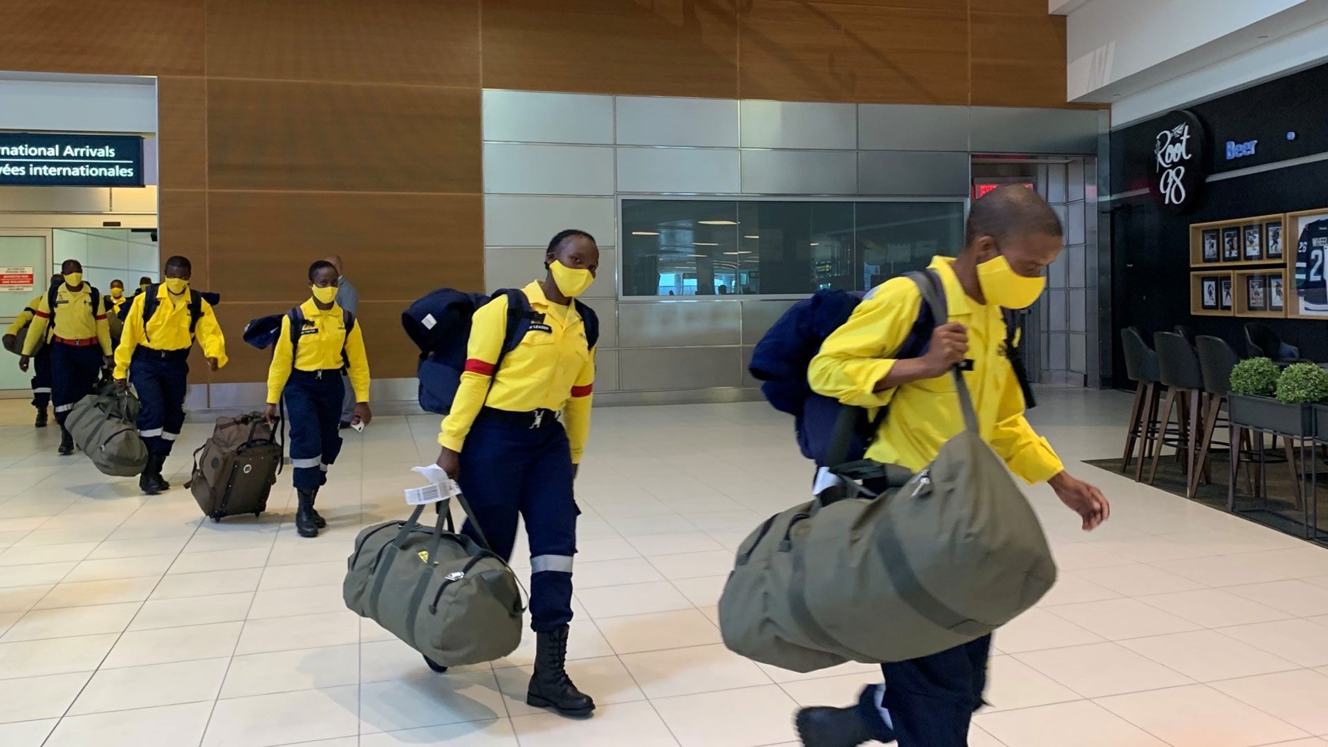 Firefighters from South Africa