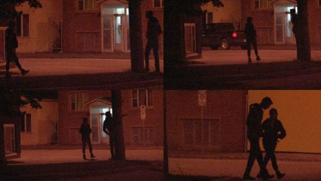 """(Tara McKay, above, meeting with a """"John"""" at the corner of Ellice Ave. and Furby St. in Winnipeg recently. They chatted for a few minutes before she walked away with him.)"""